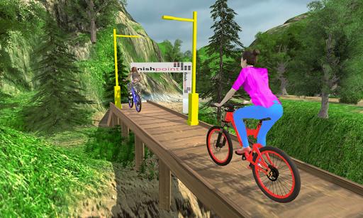 MTB انحدار بي إم إكس دراجه هوائية حيلة المتسابق 3 تصوير الشاشة