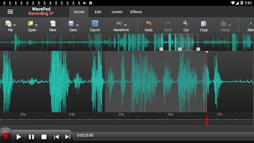 WavePad Audio Editor Free screenshot 1
