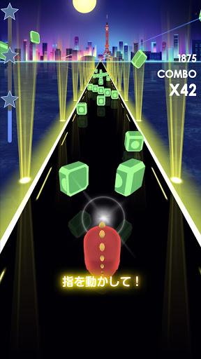 ビートラッシュ!Beat Runner!人気曲音楽リズムゲー screenshot 2