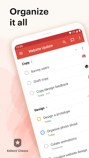 Todoist: To-Do List, Tasks & Reminders screenshot 1