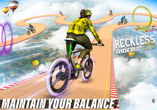 Reckless Rider- Extreme Stunts Race Free Game 2020 screenshot 6