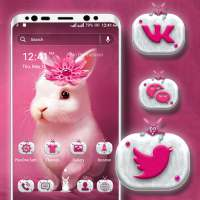 Cute Bunny Launcher Theme on 9Apps