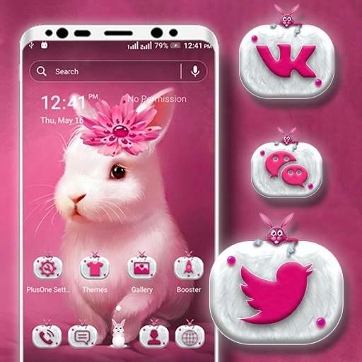 Cute Bunny Launcher Theme