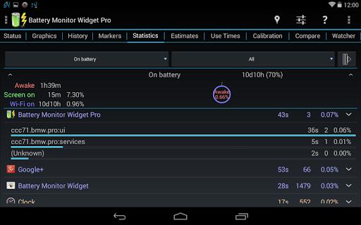 3C Battery Manager 12 تصوير الشاشة