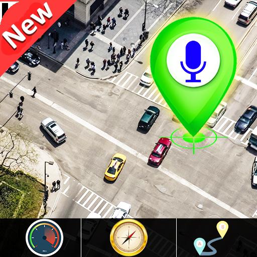 GPS Satellite carte direction & voix la navigation icon
