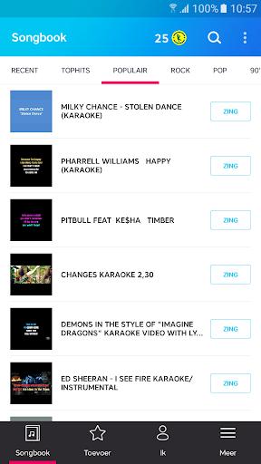 Karaoke - Zing onbeperkt karaoke - liedjes screenshot 2
