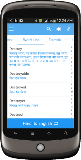 Hindi Dictionary Multifunctional screenshot 2