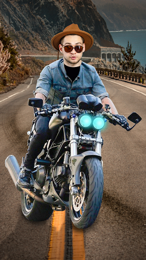 Man Bike Rider Photo Editor - photo frame screenshot 3