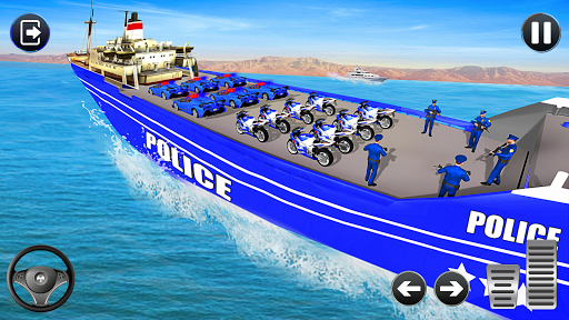 Police Bike Transport Truck screenshot 6