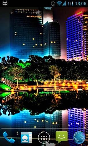 Water Drop Night City 5 تصوير الشاشة