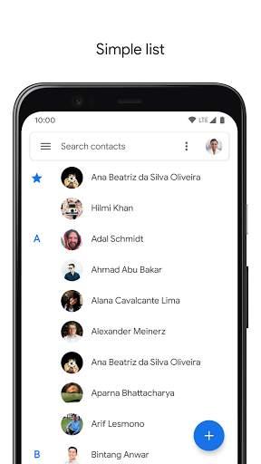 Contacts screenshot 2