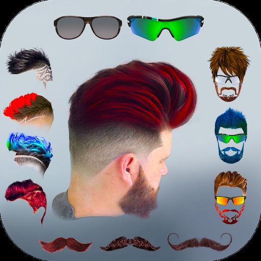 Hairy - Men Hairstyles beard & boys photo editor أيقونة