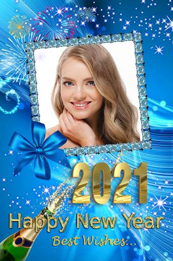 2021 New Year Photo Frames Greeting Wishes screenshot 3