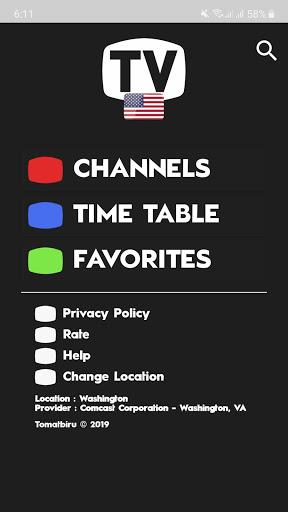 TV USA Free TV Listing Guide 1 تصوير الشاشة