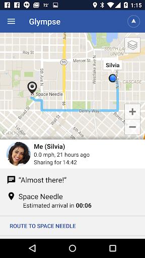 Glympse - Share GPS location 1 تصوير الشاشة
