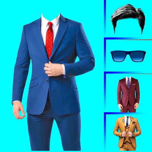 Men suit photo editor أيقونة