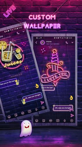 Neon Messenger for SMS - Emojis, original stickers screenshot 6