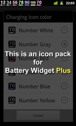 Battery Widget Icon Pack 4 screenshot 1