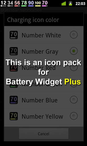 Battery Widget Icon Pack 4 screenshot 1