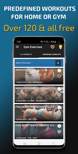 Gym Exercises & Workouts screenshot 1