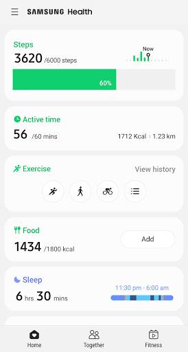 Samsung Health 1 تصوير الشاشة