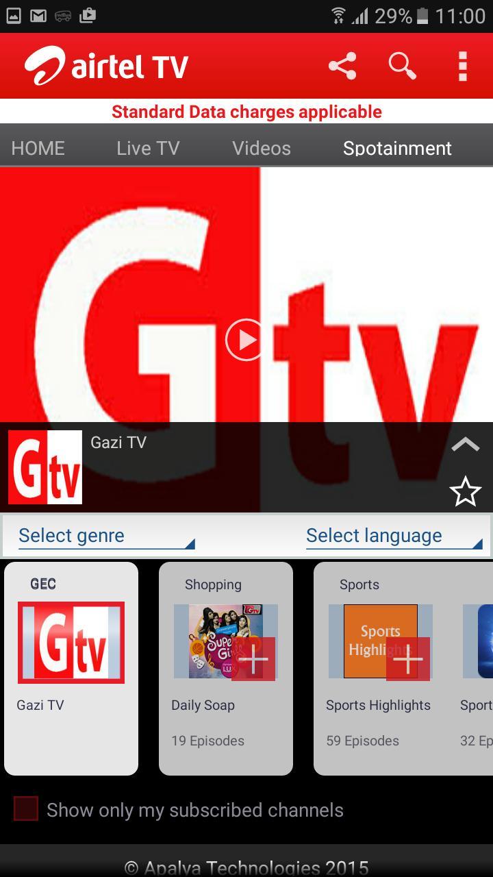 Airtel Mobile TV Bangladesh screenshot 5