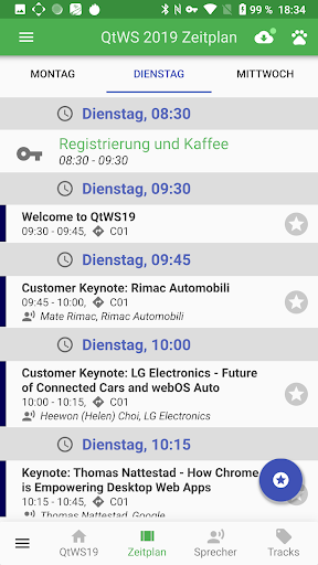 Qt World Summit 2019 Conference App screenshot 2