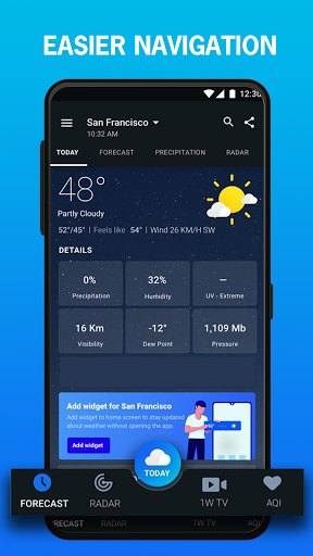 1Weather: Forecasts, Widgets, Snow Alerts & Radar 2 تصوير الشاشة