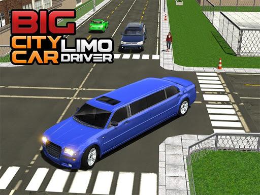 Big City Limo Car Driving Simulator : Taxi Driving 12 تصوير الشاشة