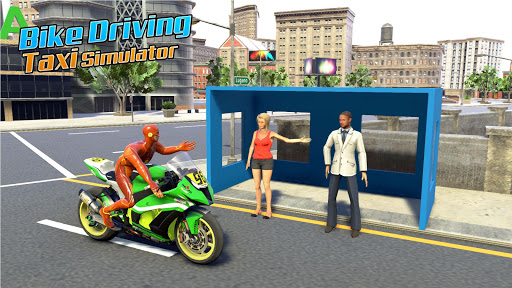 Superhero Bike Taxi Simulator: New Bike Games Free screenshot 1