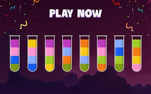 ソートウォーターパズル - 色分けゲーム screenshot 15