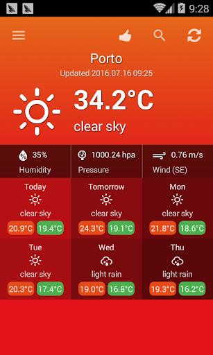 الطقس البرتغال 2 تصوير الشاشة