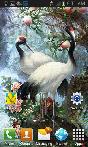 White Birds Live Wallpaper screenshot 2