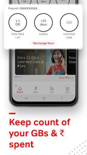 Airtel Thanks - Recharge, Bill Pay, Bank, Live TV screenshot 5