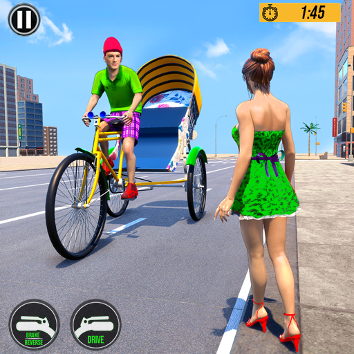 Bicycle Tuk Tuk Auto Rickshaw : New Driving Games icon