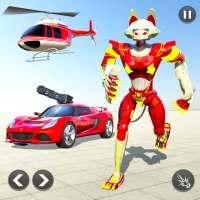 Cat Robot Car Game - Car Robot War أيقونة