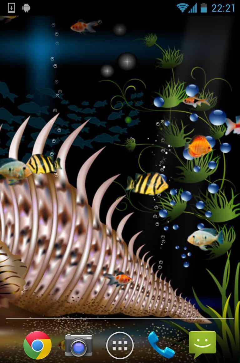 Aquarium Live Wallpaper 3 تصوير الشاشة