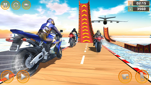 Mega Ramp Impossible Tracks Stunt Bike Rider Games screenshot 4