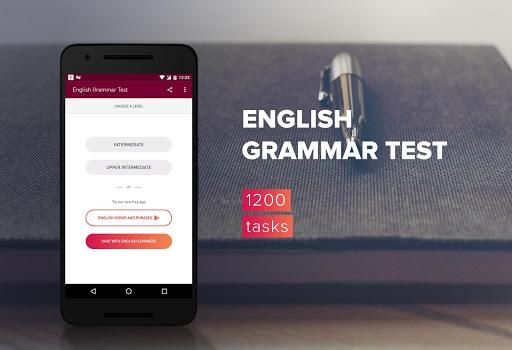 English Grammar Test 1 تصوير الشاشة
