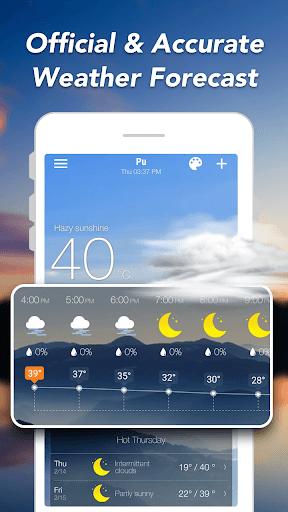 توقعات الطقس والحاجيات والرادار 2 تصوير الشاشة