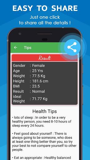 BMI Calculator & WHR Ratio 4 تصوير الشاشة