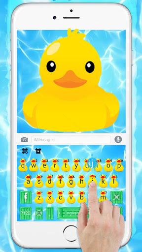 Тема для клавиатуры Funny Yellow Duck Pool скриншот 2