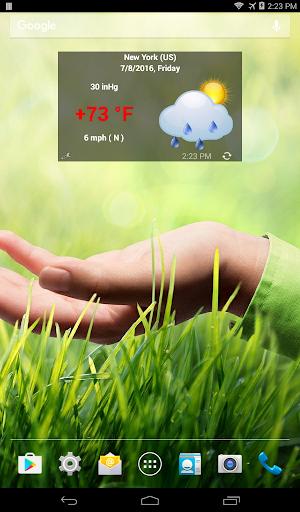 Weather forecast screenshot 1