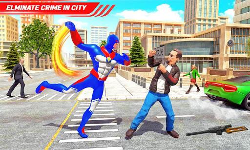 Flying Police Robot Rope Hero: Gangster Crime City screenshot 5
