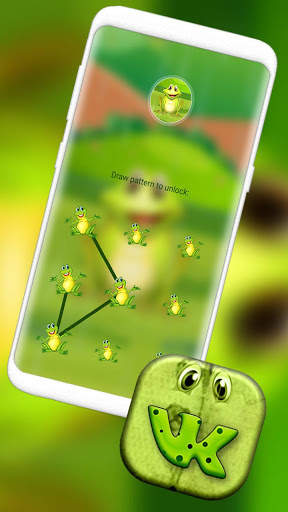 Cute Frog Cartoon Launcher Theme screenshot 4