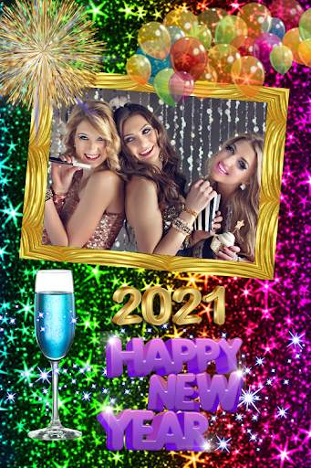 2021 New Year Photo Frames Greeting Wishes screenshot 2