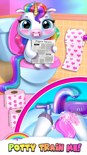 My Baby Unicorn - Virtual Pony Pet Care & Dress Up 4 تصوير الشاشة