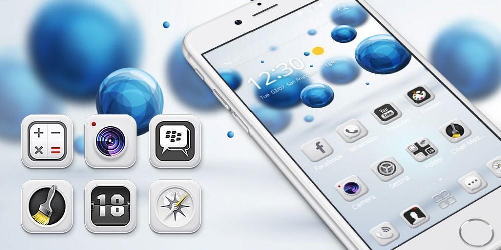 White Tech Theme  Wallpaper screenshot 4