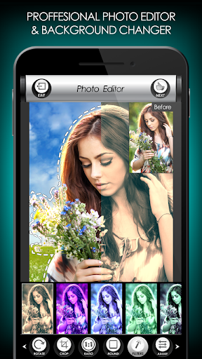 Flowers Photo Editor: Frames, Stickers & Collage screenshot 2