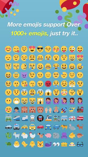 Emoji Keyboard - Color Emoji 1 تصوير الشاشة